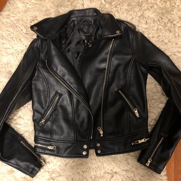 Dynamite size small moto jacket faux leather